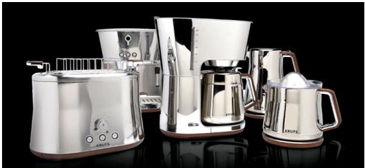 New silver appliances from Krups