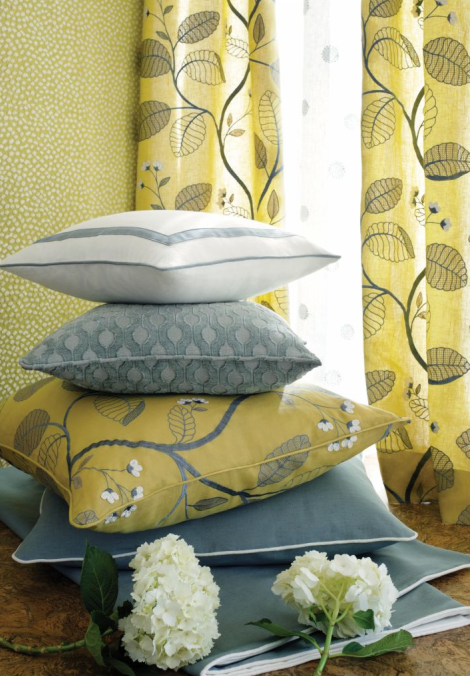 fabric with pops of color and pattern