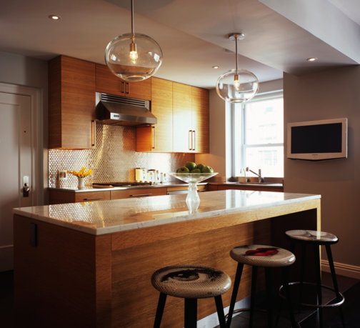 The completely renovated kitchen